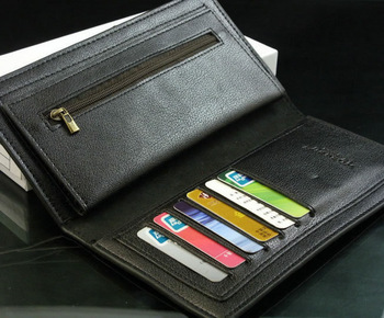 50% discount Fashion Men's long Wallet Purse Genuine Leather + PU leather ML001- Free Shipping