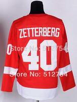 #40 Henrik Zetterberg Jersey,Ice Hockey Jersey,Best quality,Embroidery logos,Authentic Jersey,Size M--XXXL,Accept Mix Order
