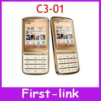 Nokia C3-01 Unlocked Original Cell Phones GSRS WIFI Bluetooth 5MP Camera 3G network Russian/Arabic keypad Free Shipping In Stock
