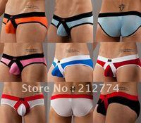 Free shipping men's sexy rings briefs male triangle underwear brand 5 piece/lot men's underwear WJ7027