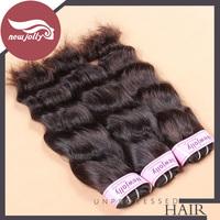 3pcs/lot brazilian natural wave virgin hair Rosa hair products Grade7A 12''-28'' inch human hair weaves natural color soft hair