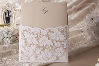 Free Shipping Elegant Floral Cut Wedding Invitation Cards Set of 50 For Wedding Favors Gifts Party Accessory Decoration Supplies