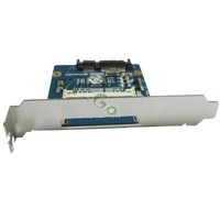Free shipping CF to SATA HDD adapter card with PCI low profile bracket