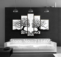 3 Size Free Shipping 100% Hand painted Abstract 5pcs group oil painting High Quality Wall Art on Canvas wholesale/A-045
