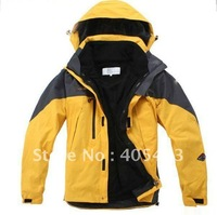 FREE shipping raincoat Hooded jackets  Men Outdoor Double Layer Windproof Waterproof Breathable Sportwear Clothes