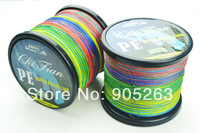 Free Shipping 1 pcs 1000M Multicolour PE SPECTRA EXTREME BRAID FISHING LINE fishing lures Fishing Tackle