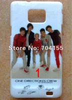 Wholesale 10pcs New One Direction 1D hard back case cover for samsung Galaxy S2 SII I9100 free shipping