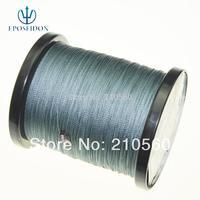 No.1 Quality&Service 4 Strand Grey Color 500M Japan Multifilament Super Strong 100% PE Braid Fishing Line 80LB