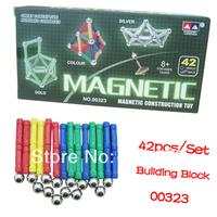 Intellectual Magnetic Construction Toy 42pcs Block Building Set Wholesale 2sets/Lot