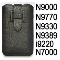 Free shipping STAR i9220 N9000 Leather BAG POPUP for  5.08&quot; MTK6575 Android 4.0.3 3G Smart phone n9000 case