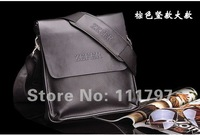 2012 fashion men shoulder bag,men genuine leather messenger bag,free shipping(Small section of the vertical section)