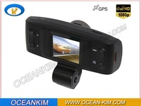 "Car DVR with GPS logger and G-Sensor car camera FULL HD1920X1080P30fps H.264 with 1.5"" LCD Freeshipping GS1000 In stock !"