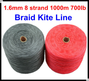 Free Shipping 1000m 700lb 100% SL Dyneema Fiber  braid kite line 1.6mm 8 weave