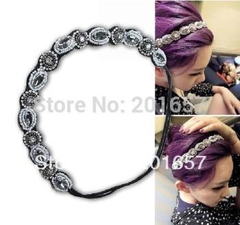 2014  fashion new handmade beads and crystal headband Elastic hairbands headwear star's favorite korea style fashion accessories