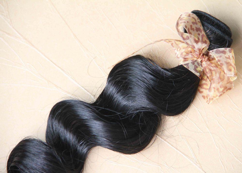 Hair loose curly brazilian virgin remy hair extension 1bqueen hair