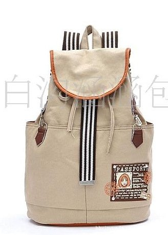 Free shipping- Korean fashion backpack Ladies Casual fashion Canvas student bag Direct manufacturers(China (Mainland))