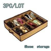 Free Shipping 3pcs/Lot Transparent Shoes Storage Box WaterProof /Home Storage box/ shoe box #1409