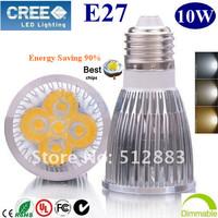 10X High Power Energy-saving  E27 5x2W 10W  LED lighting Spotlight  led bulbs led lamp led light 85-265V  free shipping