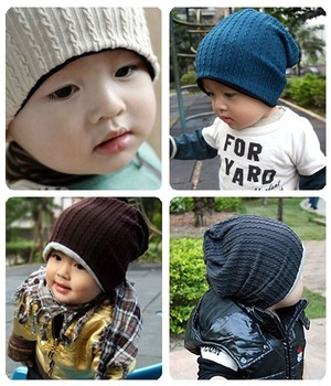 1 Pcs thread baby cap Kids hats Cotton Beanie Infant cap children baby hat