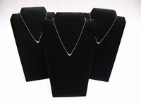 3pcs/lot Large Black leatherette Folding Necklace Jewerly Display Pendant  Stands Cardboard Easel Stand Holder  Rack Showcase
