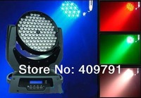 Free Shipping Good Price Big Power Zoom 108x3W Auto Adjust  RGBW/A LED Moving Head Light  Disco Bar Club KTV Stage Spot Light
