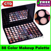 Free Shiping Cheap Beauty Product Series-- Leading-the-trend F88 Color Eyeshadow Palette Makeup Applicator with Mineral Pigment