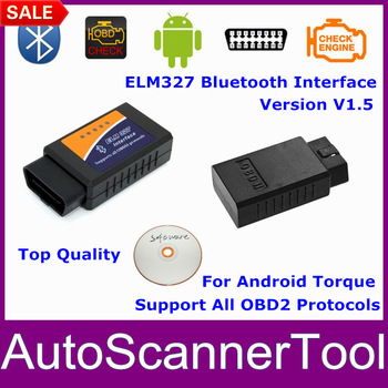 2013 Best Price Bluetooth ELM327 Wireless Scan Tool OBD2 Scanner ELM 327 Bluetooth Scanner For All Cars