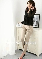 Work/Daily wear maternity pants, pregnant women clothes spring/summer, Pregnancy pants Black/Khaki S-XL, Retail/Wholesale