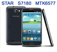 Star S7180 s7100 Note 2 android 4.1 Dual core 1GB RAM  Smart Phone 5.5 Inch Screen MTK6577 wifi gps android phone