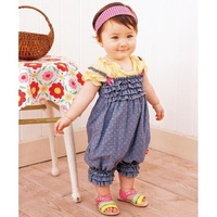 Romper/ Siamese trousers/ Denim harnesses/ Girls baby dress
