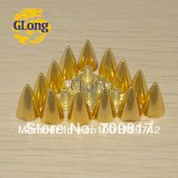 7*10mm Screwback Spikes Golden Punk Rock leathercraft DIY Rivet Free Shipping 1000pcs #GZ025-10G+B4G