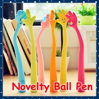 [FORREST SHOP] Free Shipping Kawaii Stationery Novelty Kids Gift Cute Hand Ball Pen Can Bending 20 pieces/lot high quality FRS-2