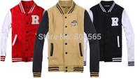 2014 New Sweatshirt Women Sport Suit For Unisex Fashion Letters Printed Hoodies Men Baseball Cardigans Coat S-XXL CO-035