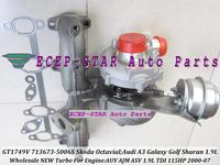 GT1749V 713673-5006S 038253019D 713673 Turbocharger For Audi A3 Galaxy Golf Sharan/Skoda Octavia I 00-07 1.9L TDI AUY ASV 115HP