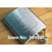 Thickening new D Jack Daniels 7 oz stainless steel hip flask carry flagon 1pcs free shipping