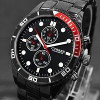 2014 CURREN Brand Sports Men Quartz Watches Designer Men Watches Stainless Sport Styles Quartz Steel Men Military Watch M931B