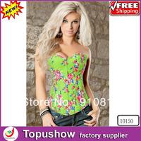 Free Shipping ! Sexy Printing Shaper Corset Bustier Underwear Fashion Women burlesque corset S-XXL 10150