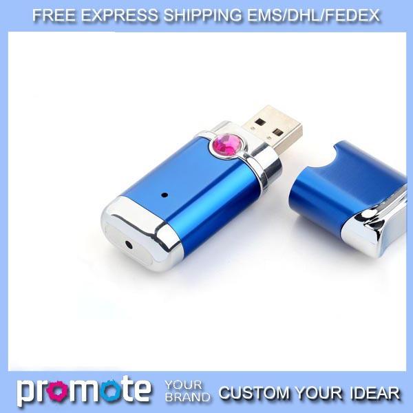 free EMS/DHL 30pcs/lot simple small metal USB Memory stick 1GB 2GB 4GB 8GB 16GB free laser engraved flash drive ( silver)(China (Mainland))