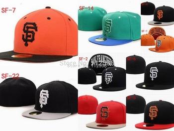 Wholesale San Francisco Giants fitted hats baseball caps 12pcs/lot  free shipping