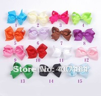 2014  Free shipping wholesale boutique Toddler Hairbow solid hair bows with clips,280pcs/lot