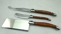 Free shipping!3pcs stainless steel cheese knife set wooden handle cheese knife
