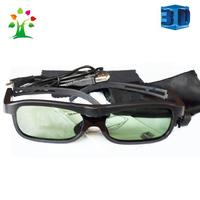 Free shipping Wholesale Black color active shutter 3d glasses for 3d TV Panasonic TV TY-EW3D10