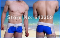 Men swimwear sexy short pants Boxer trunks Swim M L XL and 7 color for choose Free shipping Promotion
