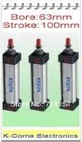 "63mm Bore 100mm  Stroke G3/8"" SC63*100 Standard Pneumatic Air Cylinder Adjustable Single Rod Cylinders"