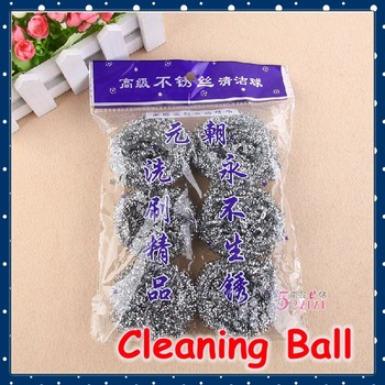 [FORREST SHOP] High Quality Kitchen Tools Stainless Steel Cleaning Ball Wire Brush (3 packs/lot) FRH-65