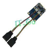 Fress shipping  Mini PCIe,PCI-E to Dual USB adapter mPCIe to 5 pin 2 USB2.0 card