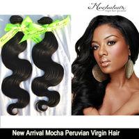"7A Unprocessed 2 or 2pcs/lot mixed length Mocha Hair Peruvian Virgin Hair Body Wave 10""-30"" soft & Natural Hair Extension"