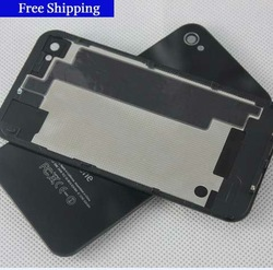 Top quality Original Black White Glass Battery Cover Back replacement Housing For iPhone 4S 4GS ,Free Shipping 10pcs(China (Mainland))