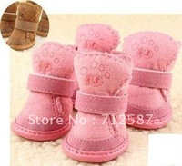 New Fashion! Beautiful snow boots, pet dog shoes/footwear ~free shipping