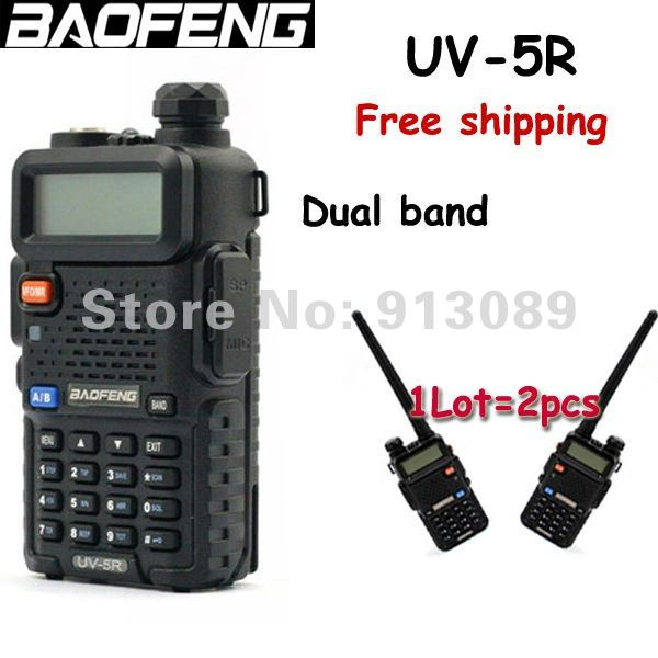 Two way radio Baofeng UV-5R dual band ham radio VHF and UHF walkie talkie new lunch of Baofeng(China (Mainland))
